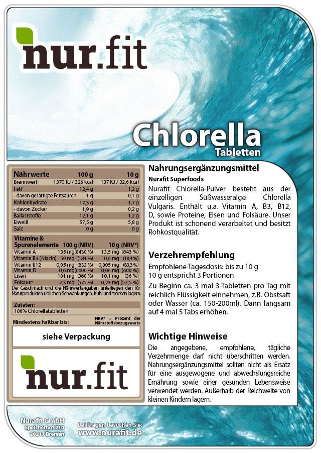 Chlorella Tabs 500g