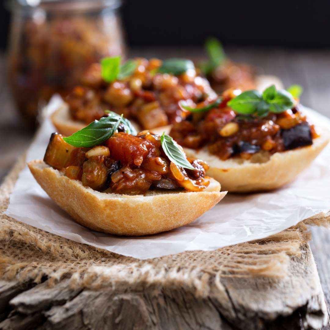 Vegan Italian Caponata with Dates