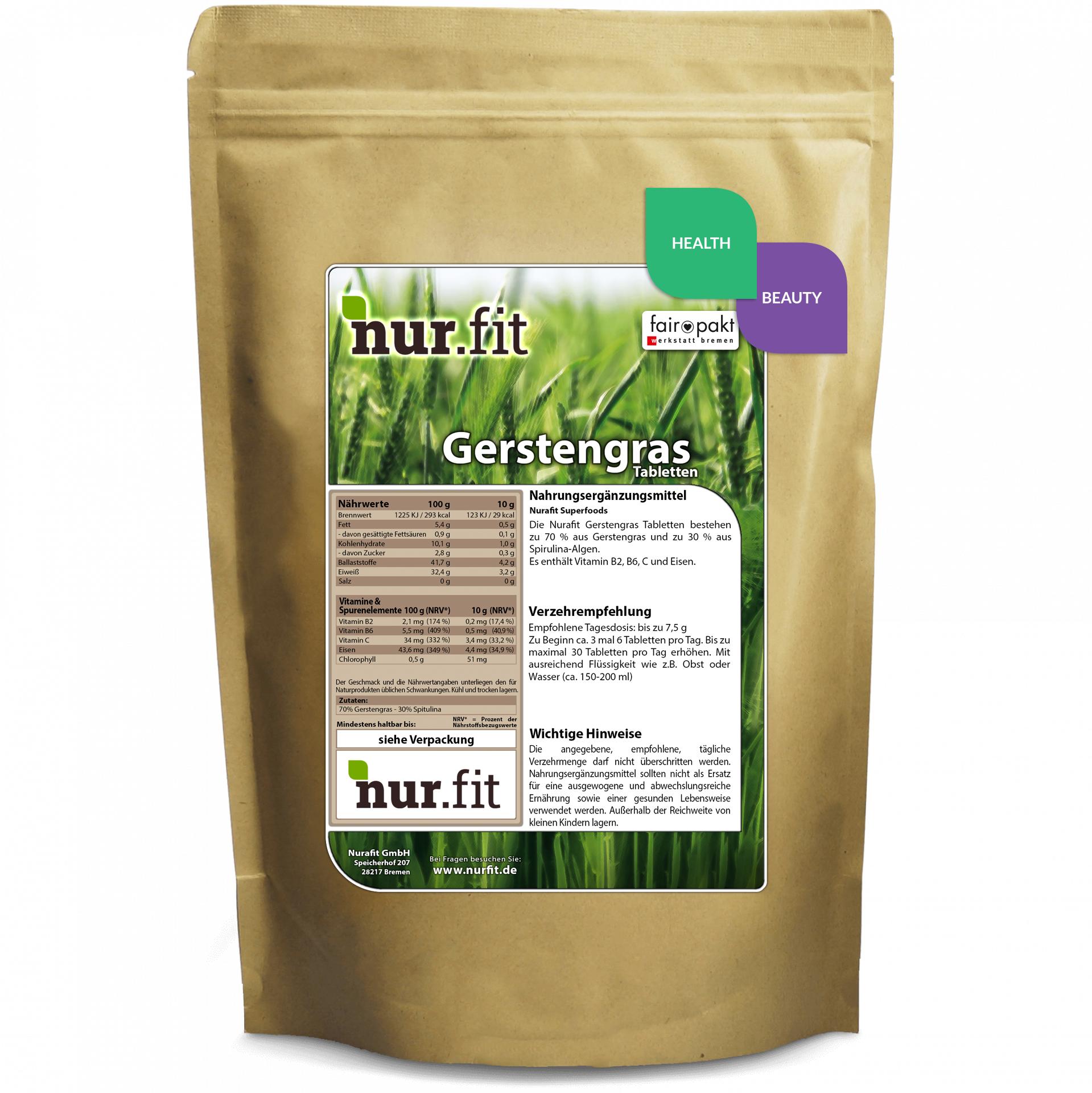 Barley Grass Tabs