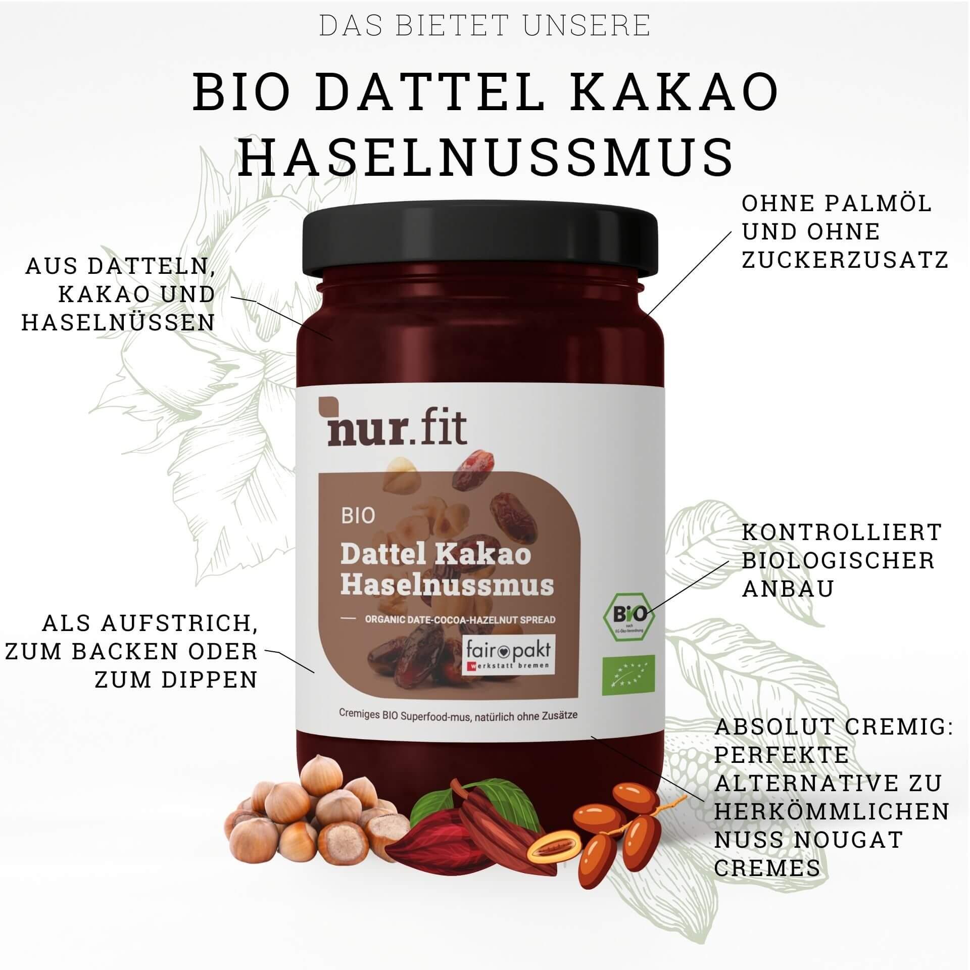 BIO Dattel Kakao Haselnuss Creme