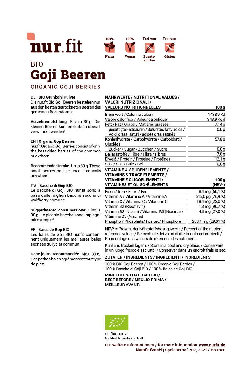BIO Goji Beeren