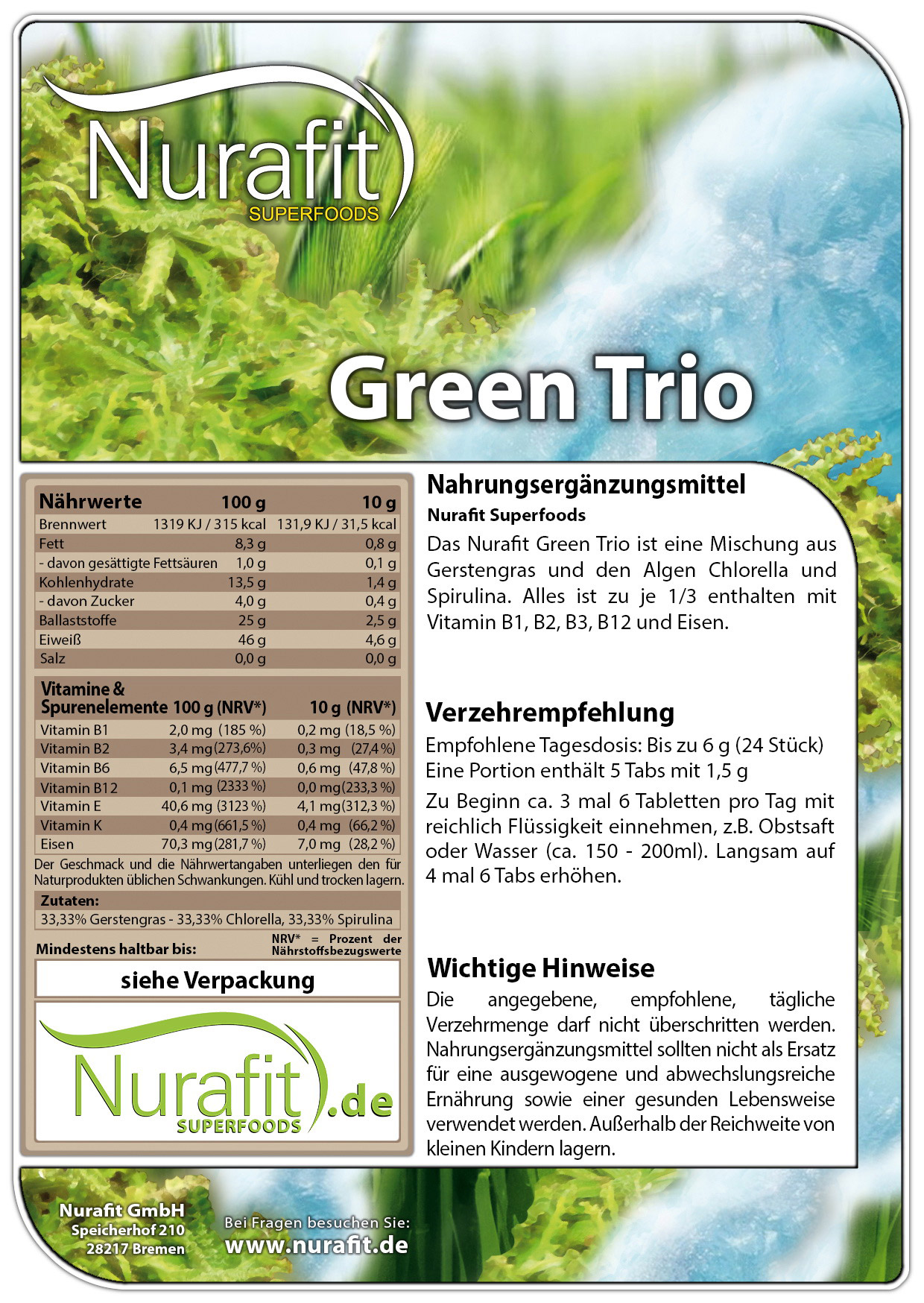 Green Trio Tabs