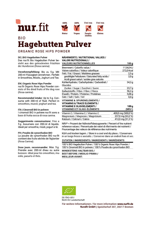 BIO Hagebutten Pulver