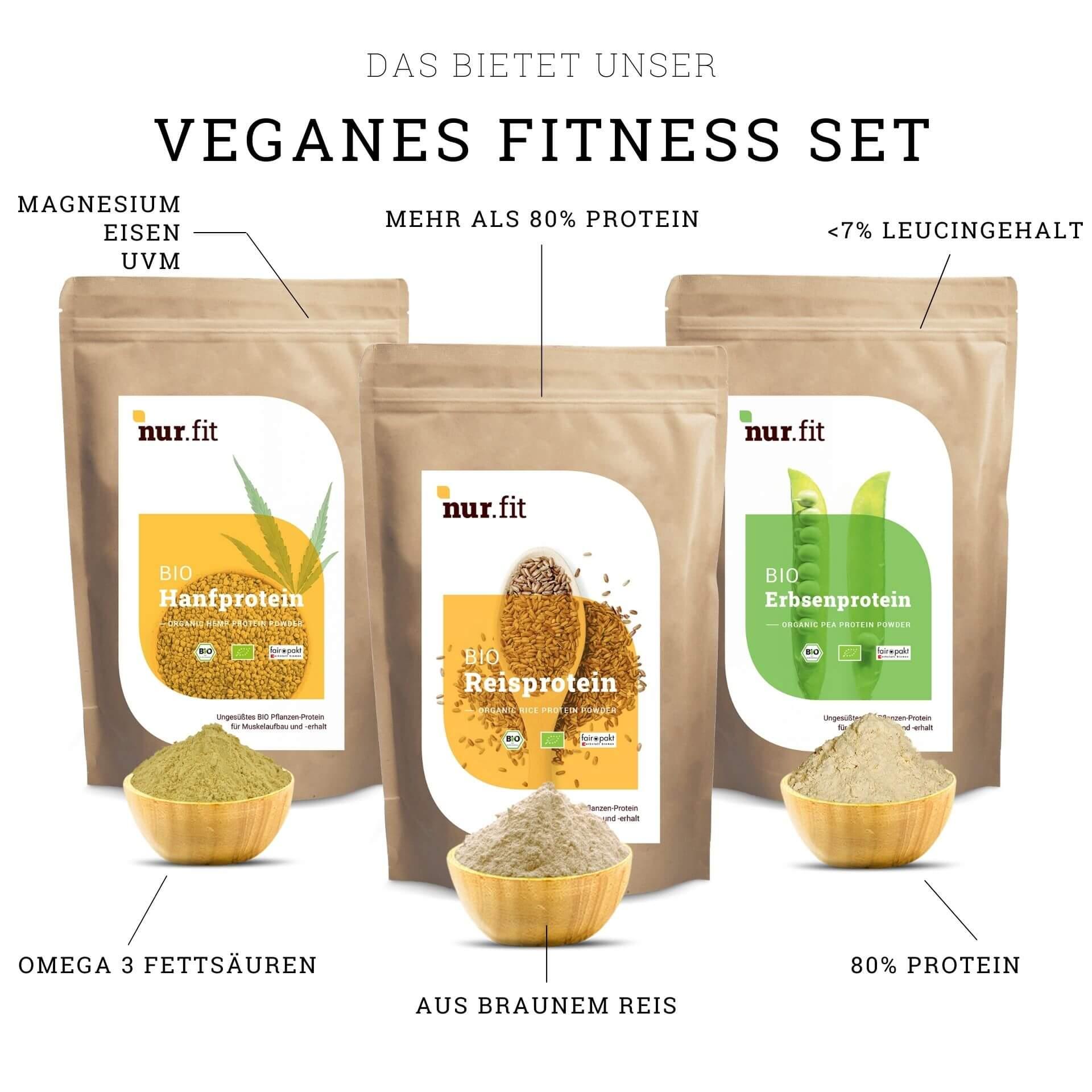 Veganes Fitness Set