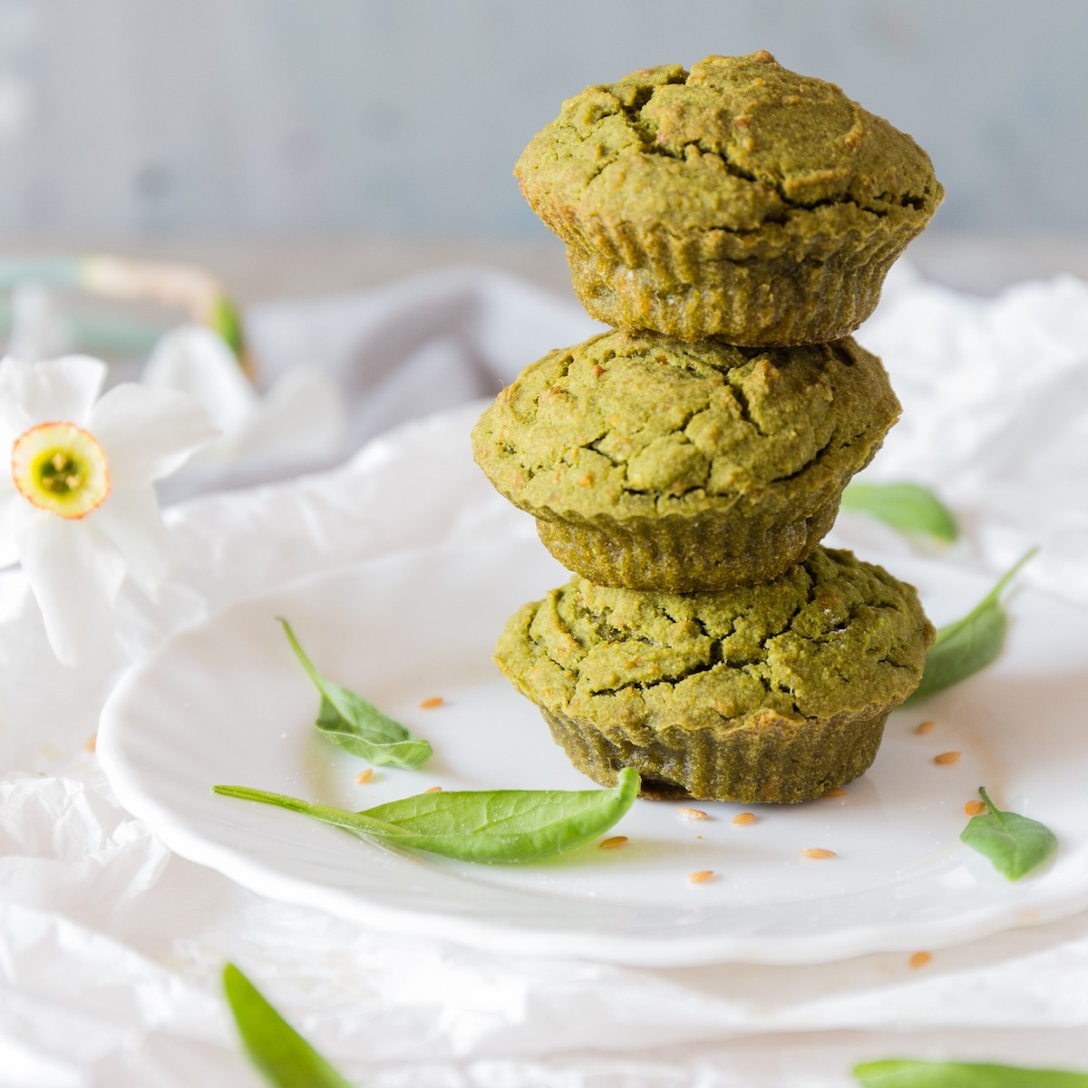 Einfache Grünkohl Pulver Muffins