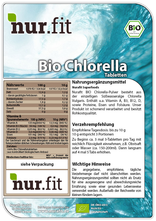 BIO Chlorella Tabs