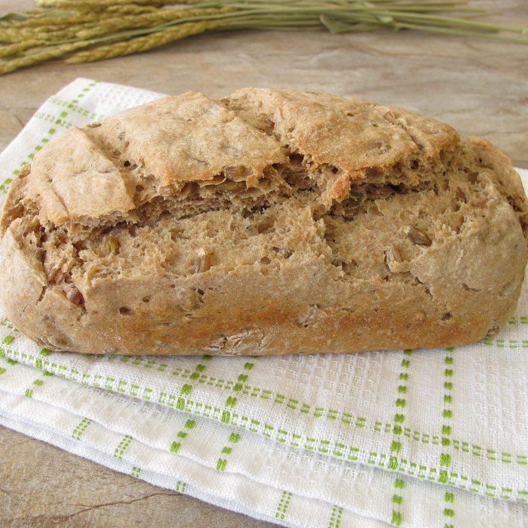 Protein bread with barley grass powder