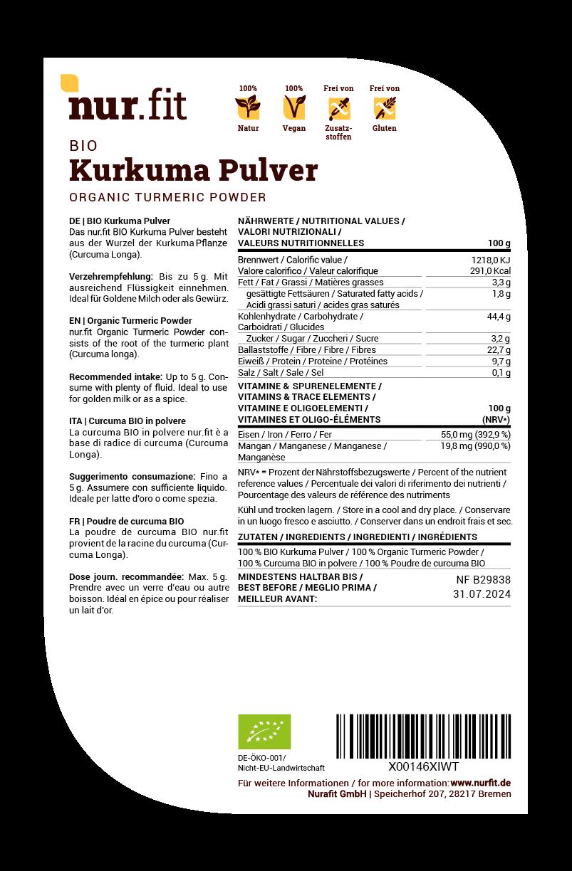 BIO Kurkuma Pulver