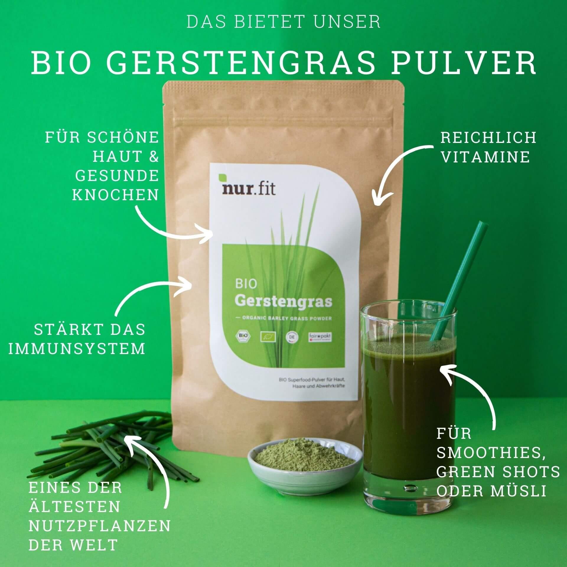BIO Gerstengras Pulver aus Deutschland