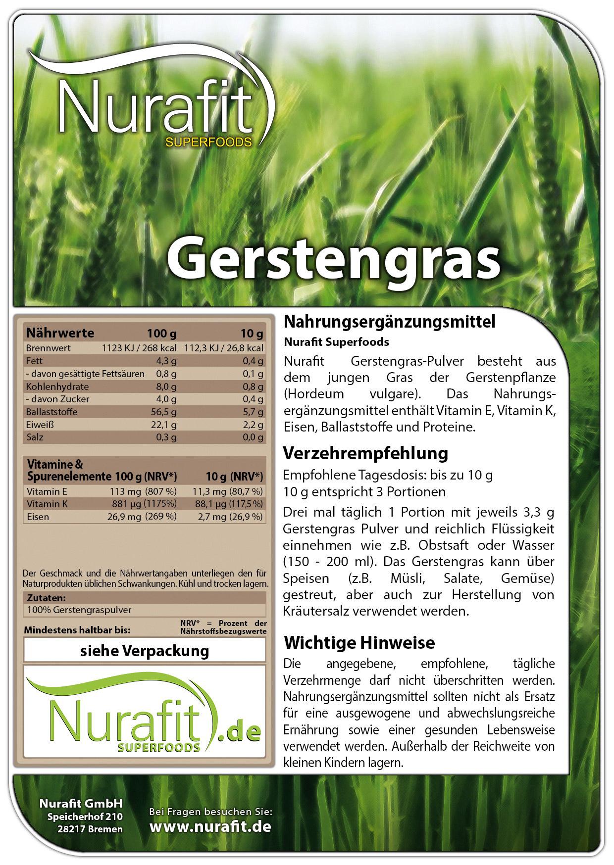 Gerstengras Pulver