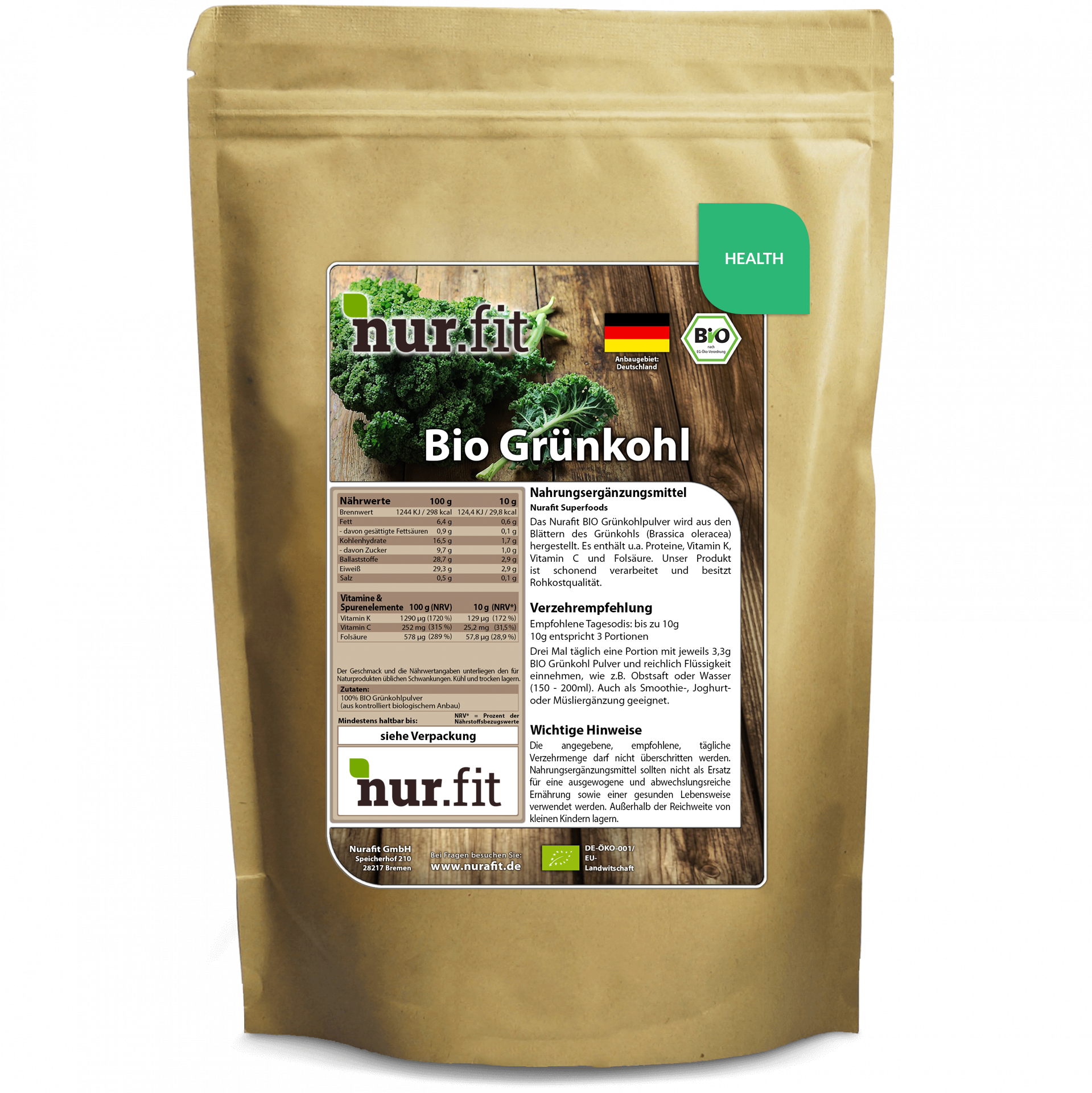 Organic Kale Powder 500g
