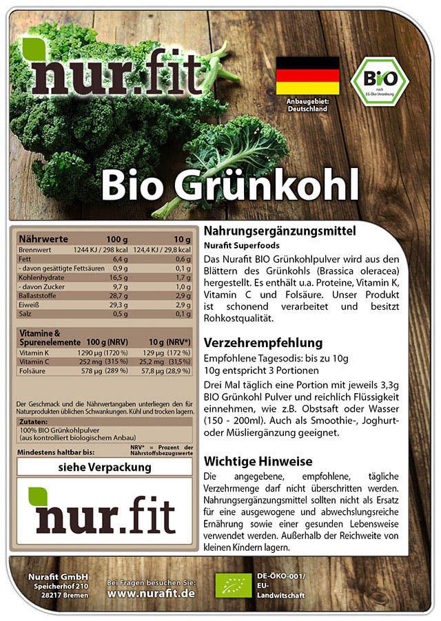 BIO Grünkohl Pulver
