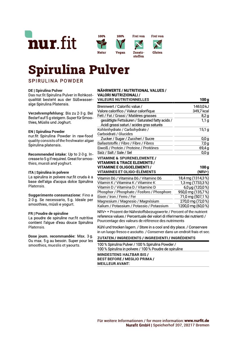 Spirulina Pulver