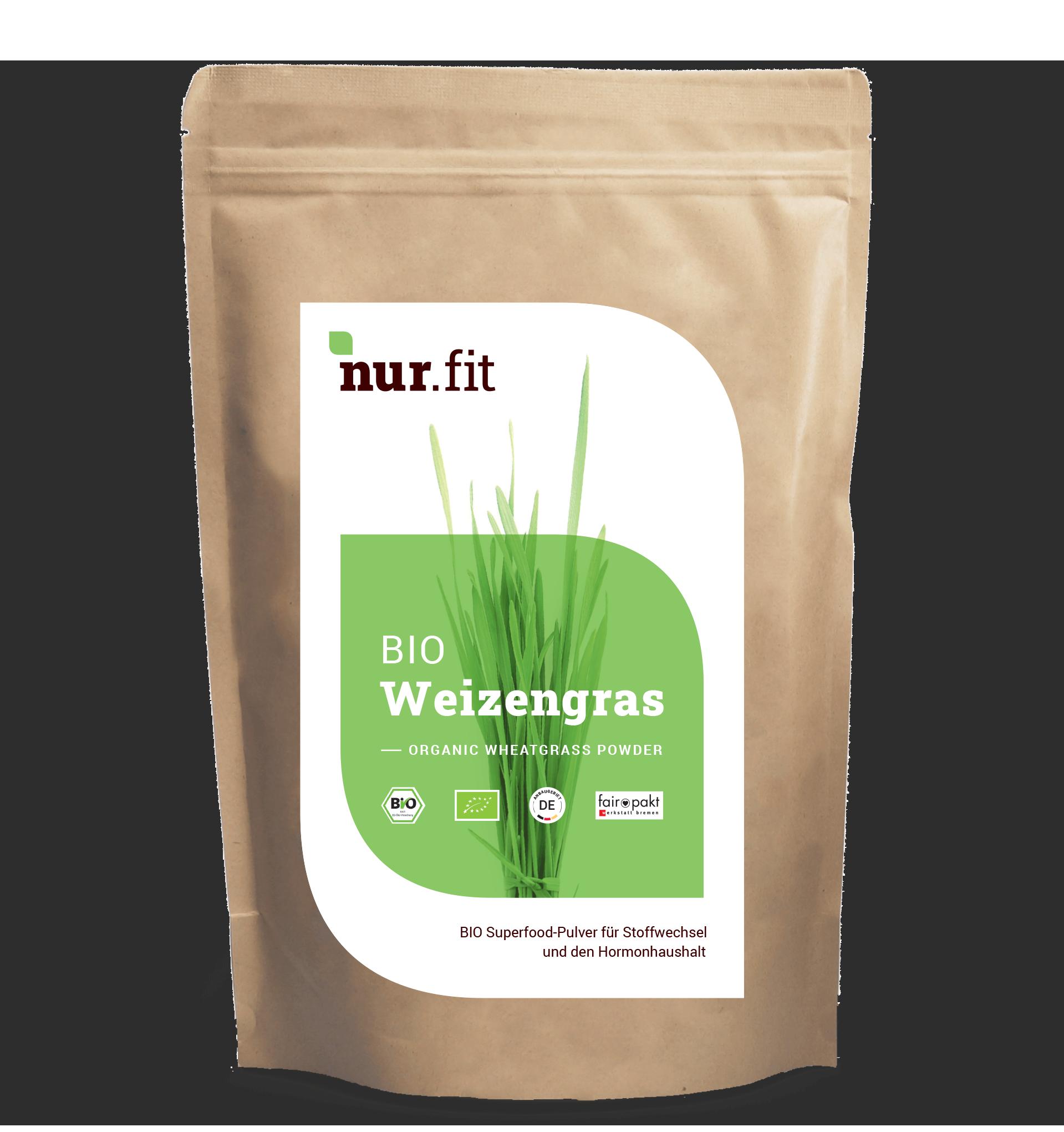 BIO Weizengras Pulver aus Deutschland