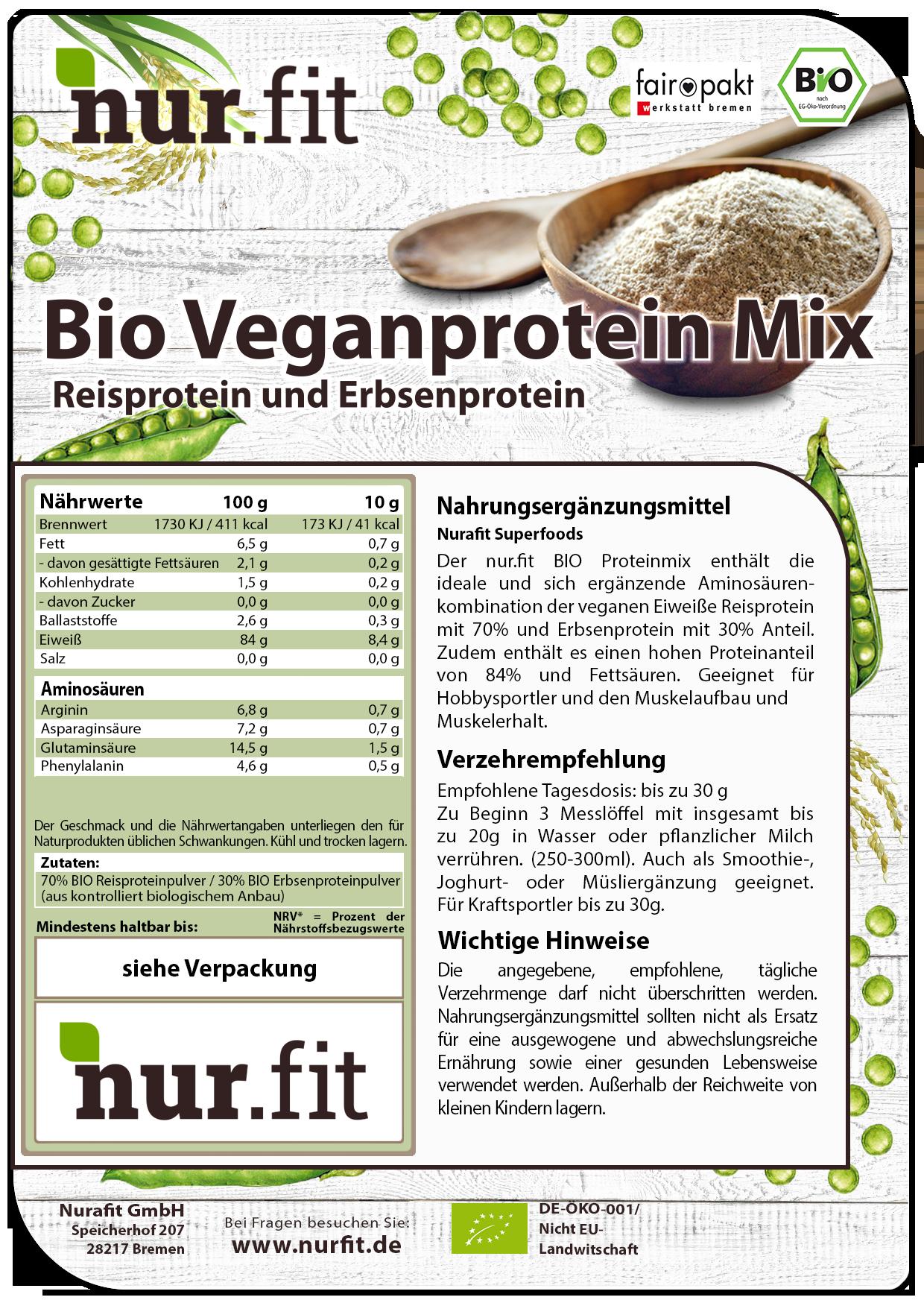 BIO Veganprotein Pulver
