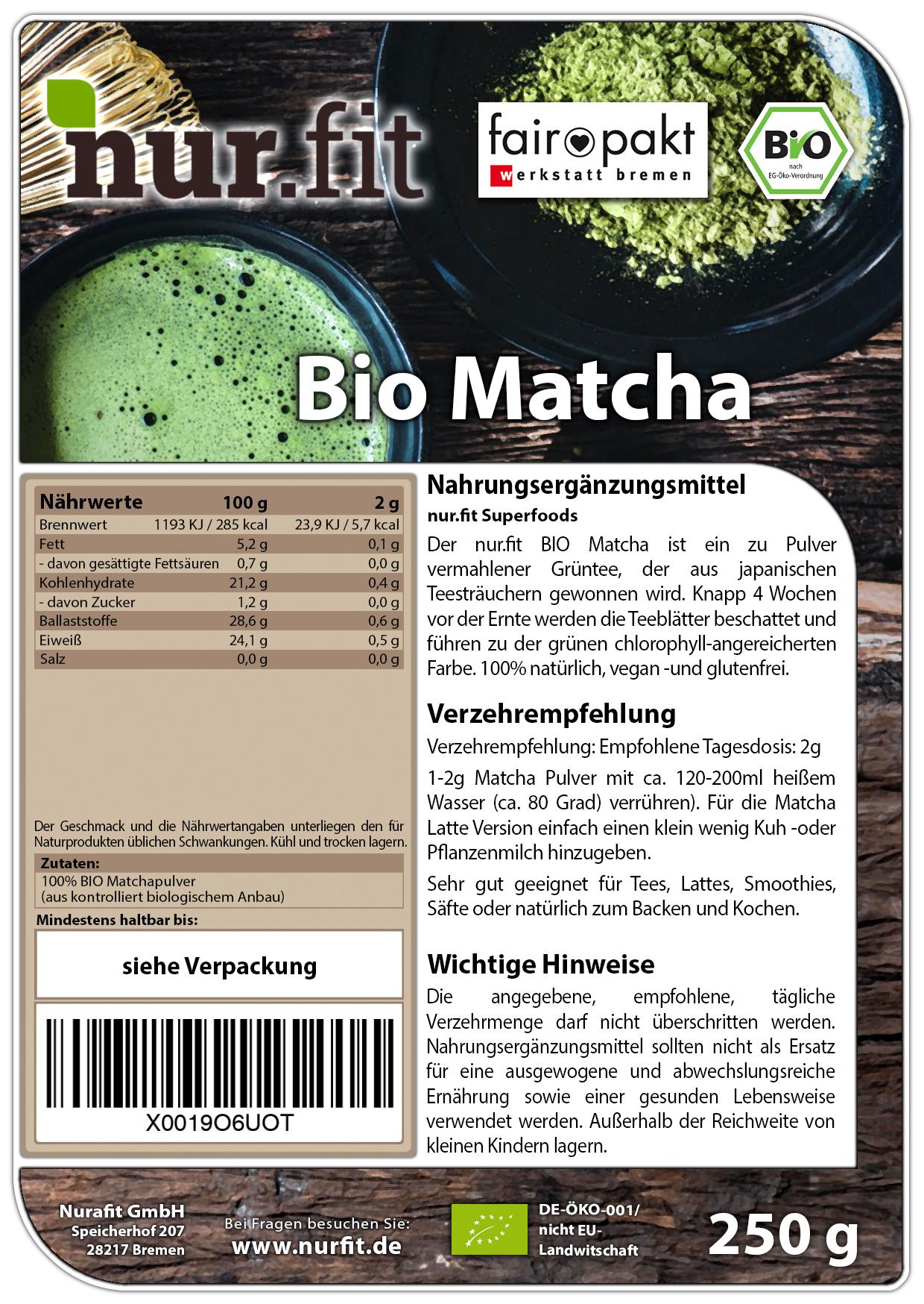 Organic Matcha Powder 125g
