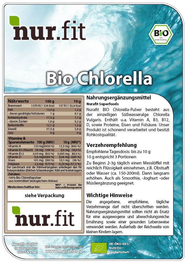 BIO Chlorella Pulver