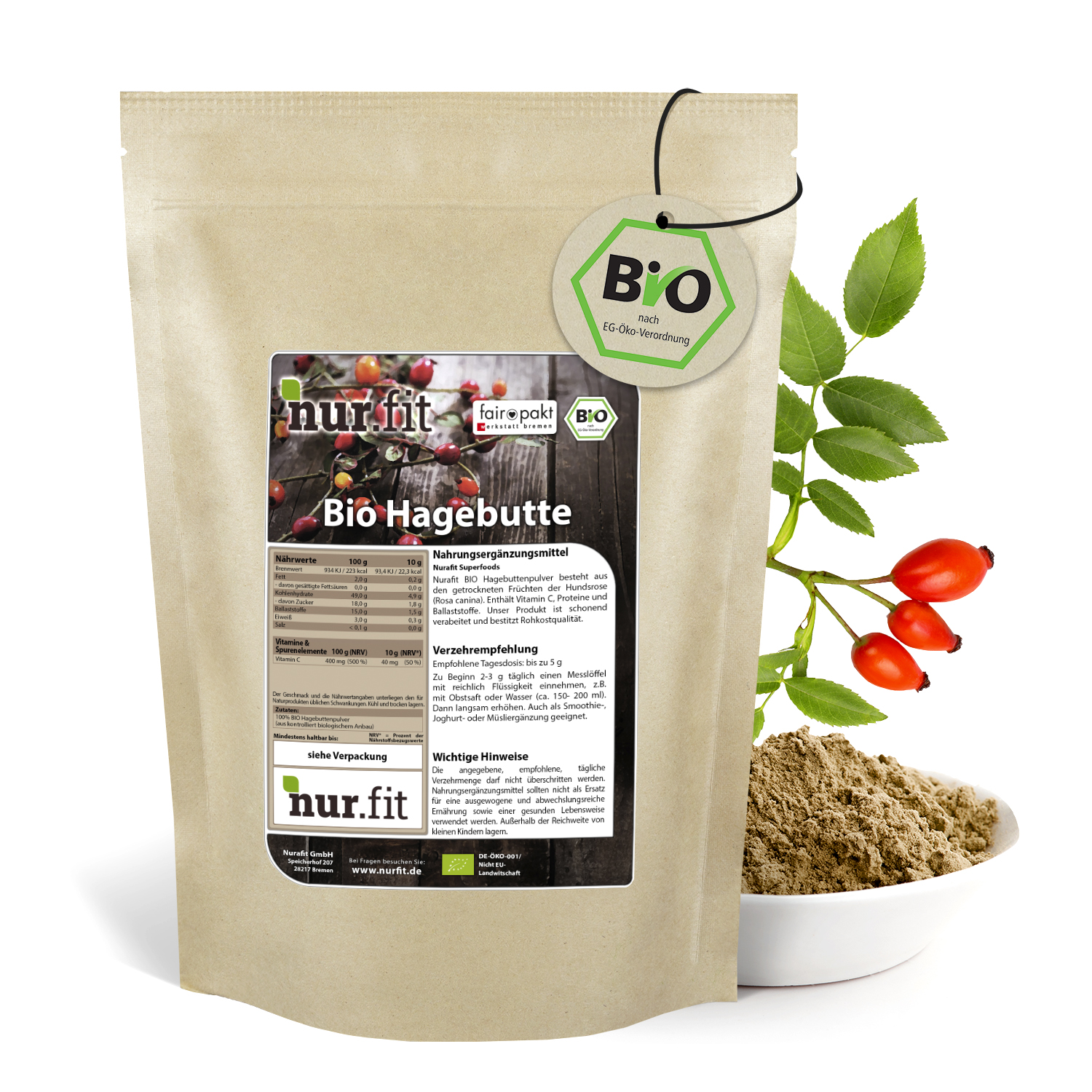 Organic Rose Hips Powder