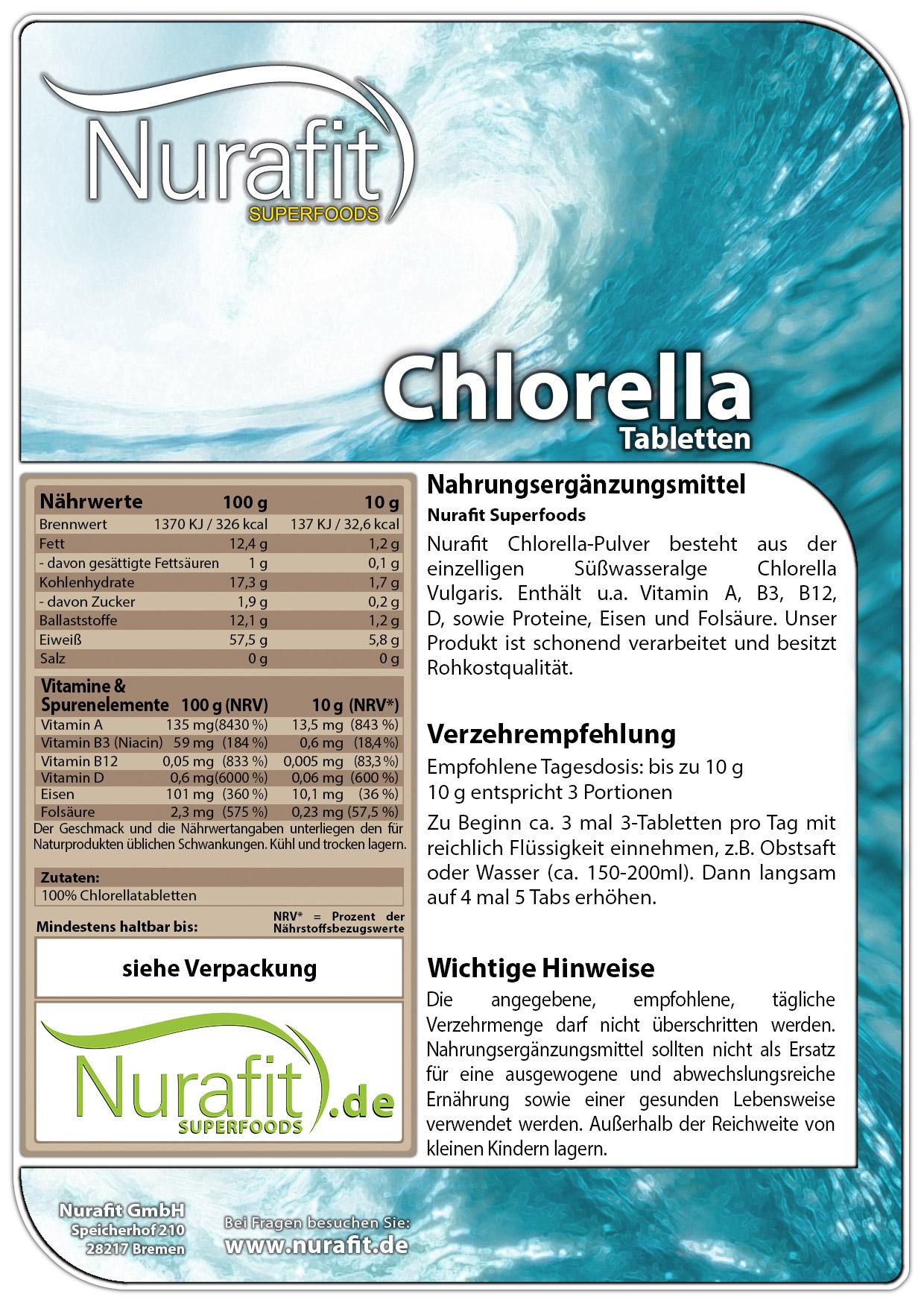 Chlorella Tabs