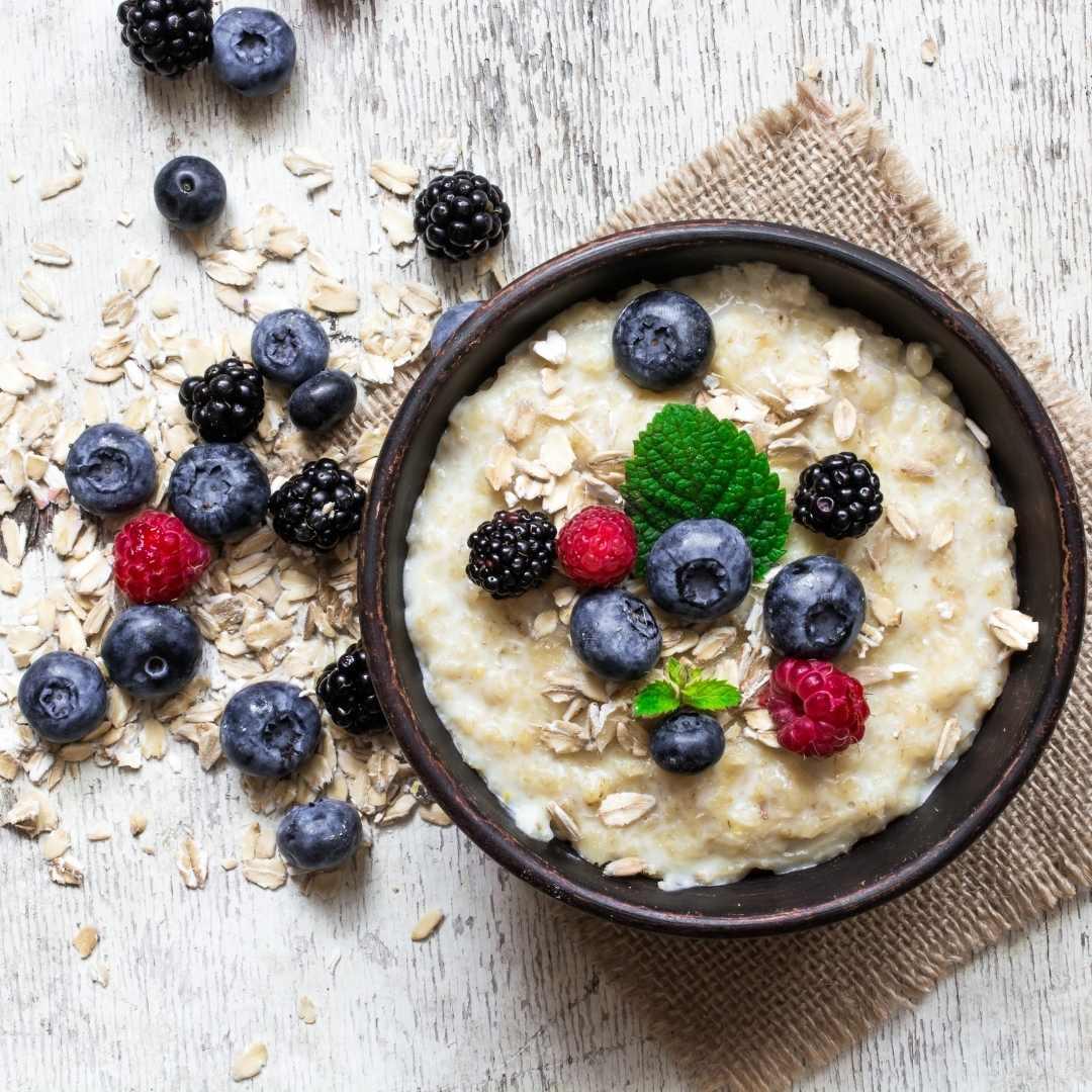 Veganes Protein Porridge