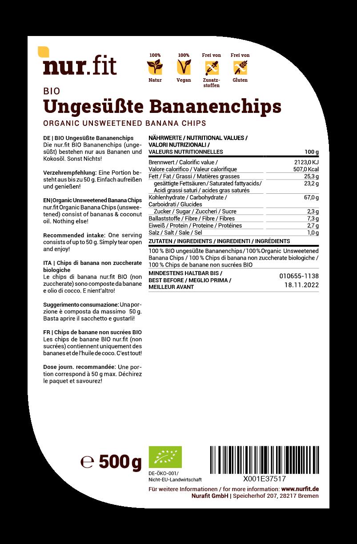 BIO Bananenchips-Natur