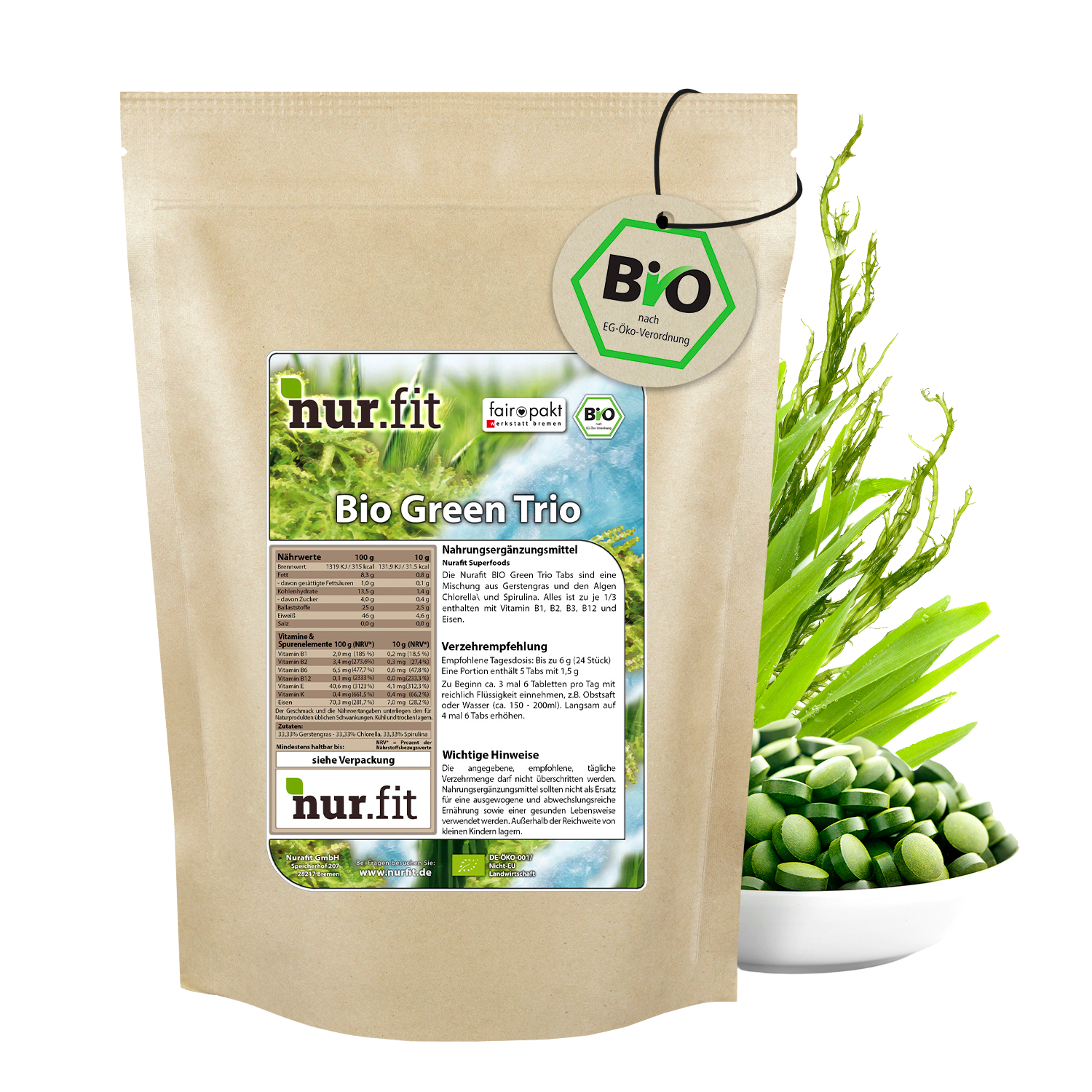 BIO Green Trio Tabs