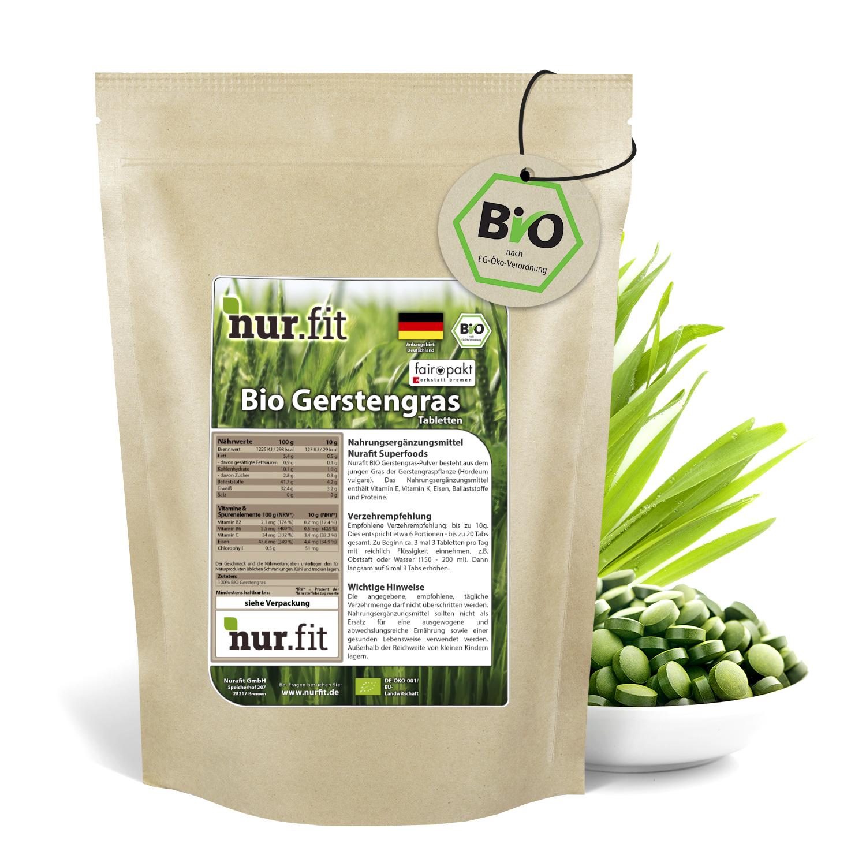 BIO Gerstengras Tabs aus Deutschland