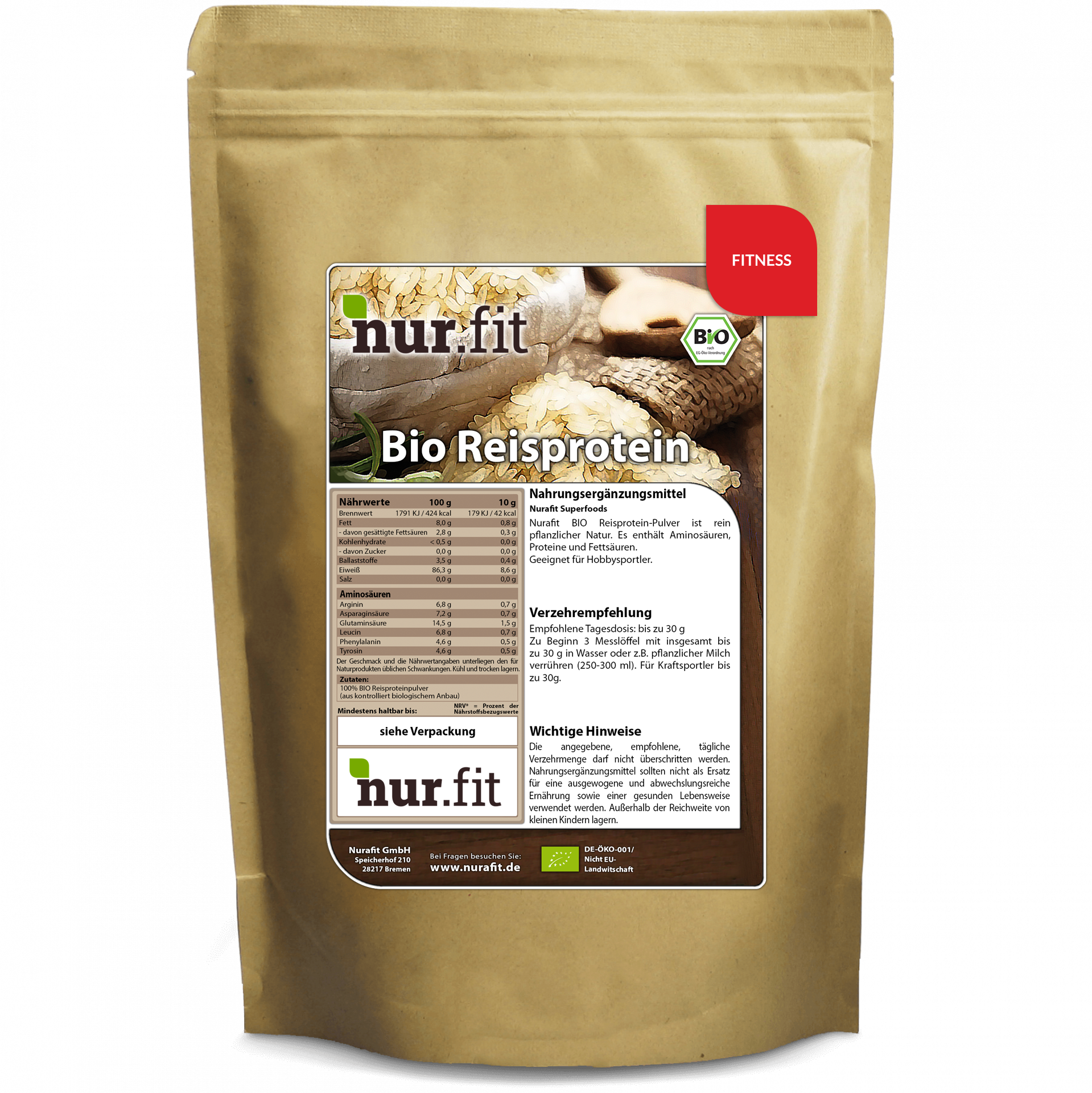 Organic Rice Protein 500g